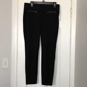 NWT Zara Crop Ankle Leggings black Size Large